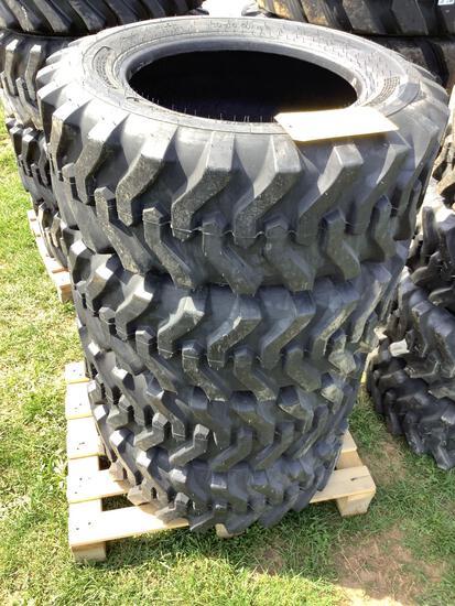 Set of 4 Skid Loader Tires 10-16.5