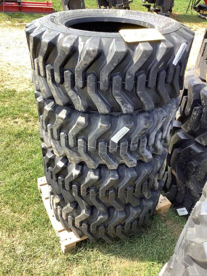 Set of 4 Skid Loader Tires - 12-16.5