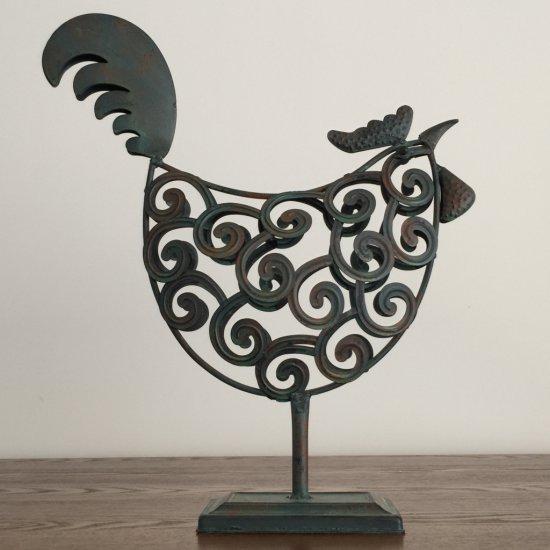 Metal Rooster Figurine