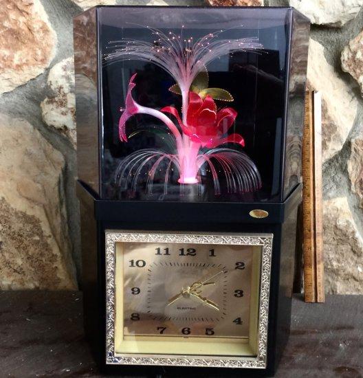 Fiber Optic Floral Clock