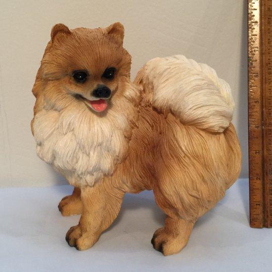 Adorable Large Pomeranian Dog Figurine