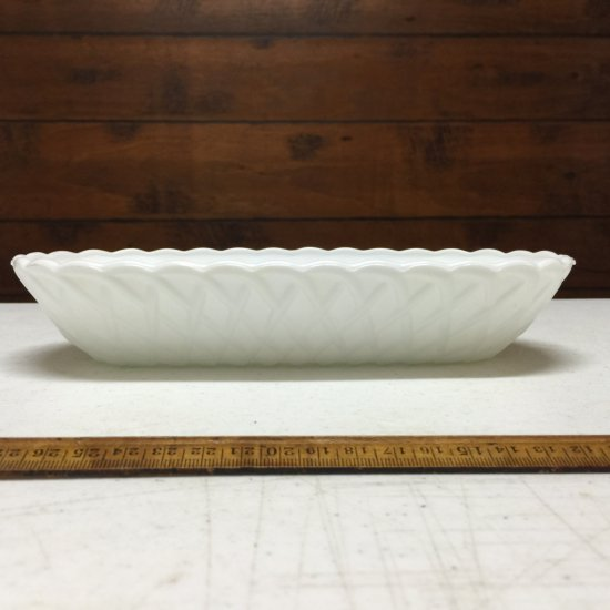 Vintage Milk Glass Basket
