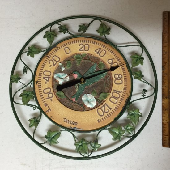 Hummingbird & Ivy Thermometer