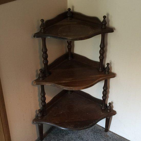 Three Corner Wooden Shelf