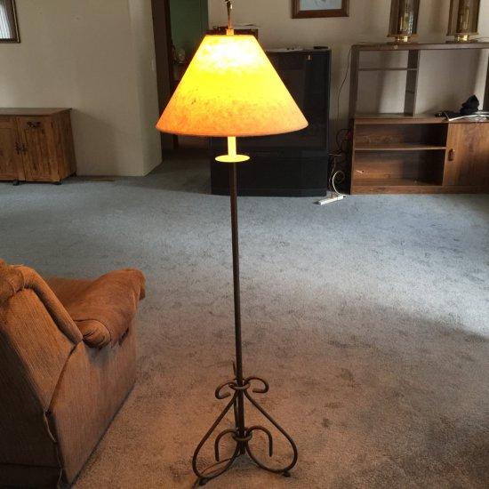 Tall Metal Floor Lamp