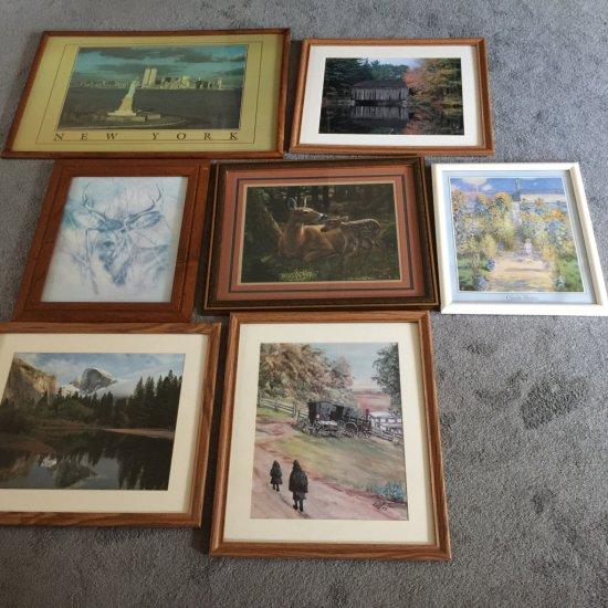 Lot of Nice Framed Prints