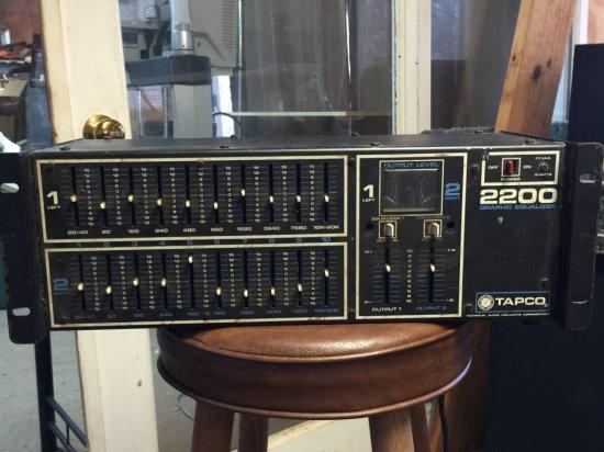 Graphic Equalizer Tapco 2200