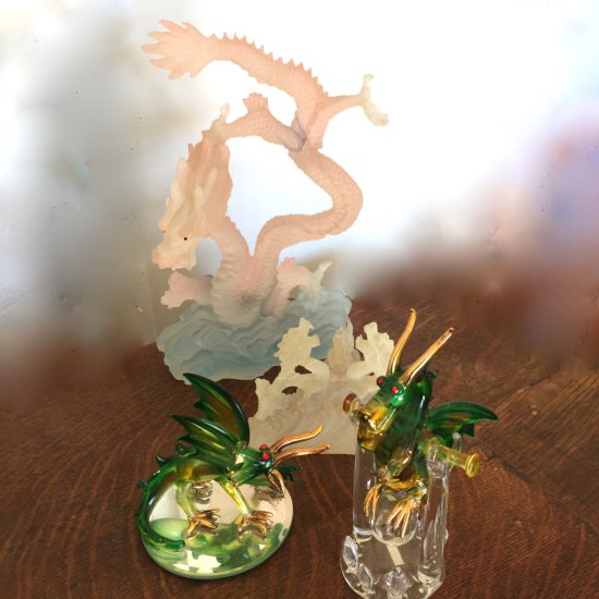 Lot of Glass Dragons