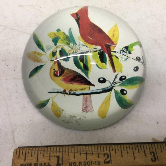 Cardinal Glass Paperweight