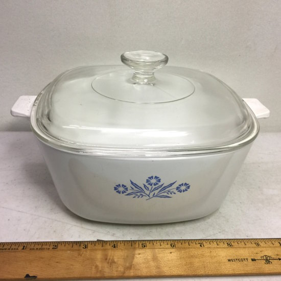 Vintage Corning Ware 2-1/2 Qt Lidded Casserole Dish