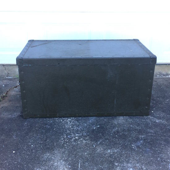 1958 Metal USAF Military Lidded Trunk by Texas Trunk Co.