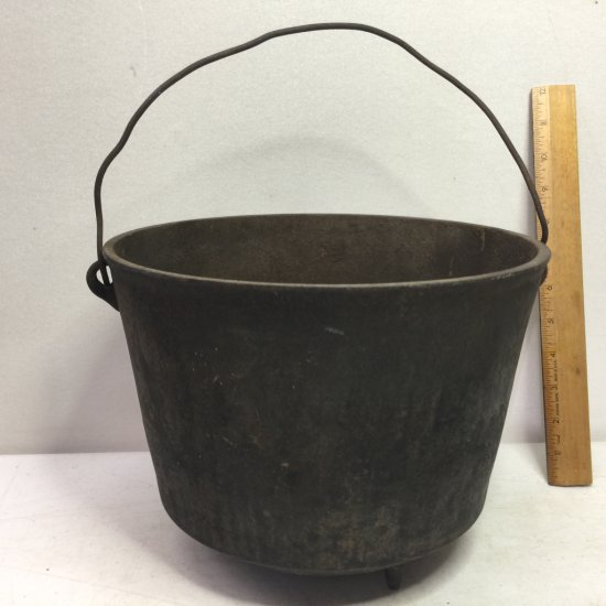 Vintage Cast Iron Footed Bucket