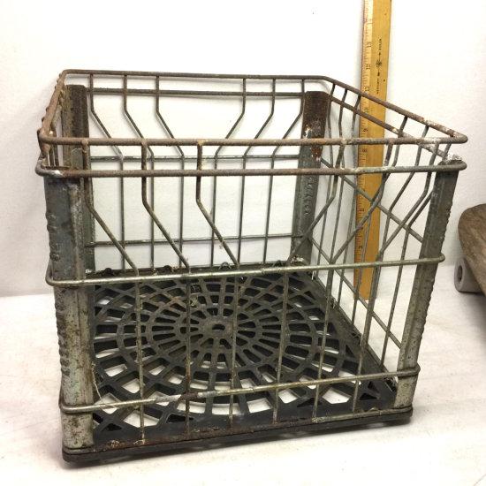 Vintage Metal Sealtest Milk Crate