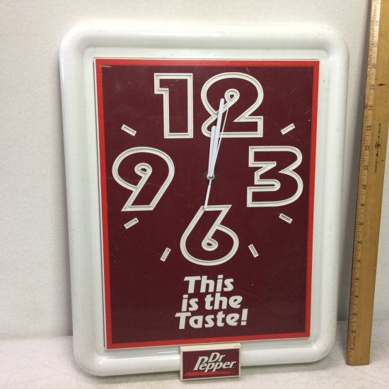 Vintage Dr. Pepper Advertisement Wall Clock