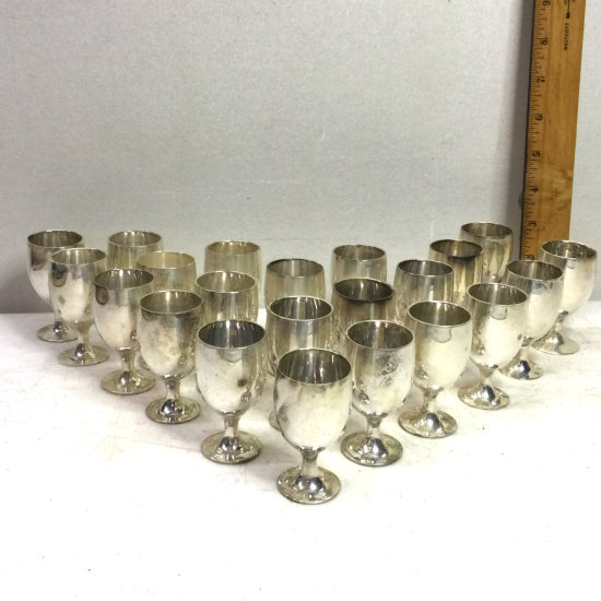 Set of 22 Leonard EPNS Cordial Cups