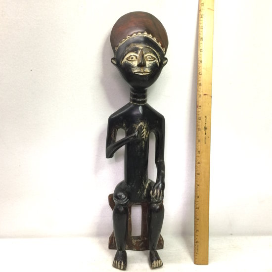 Tall Old Carved Wooden Tribal Figurine