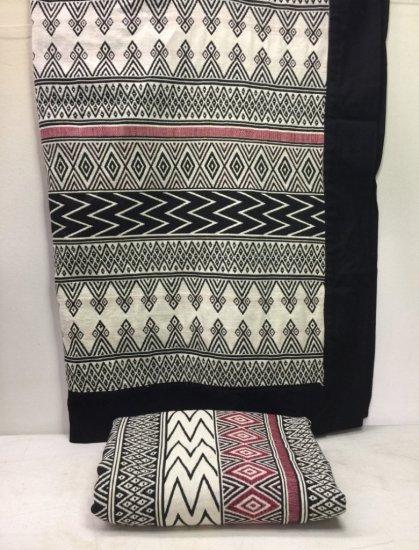 Pair of Tribal Design Throw Blankets