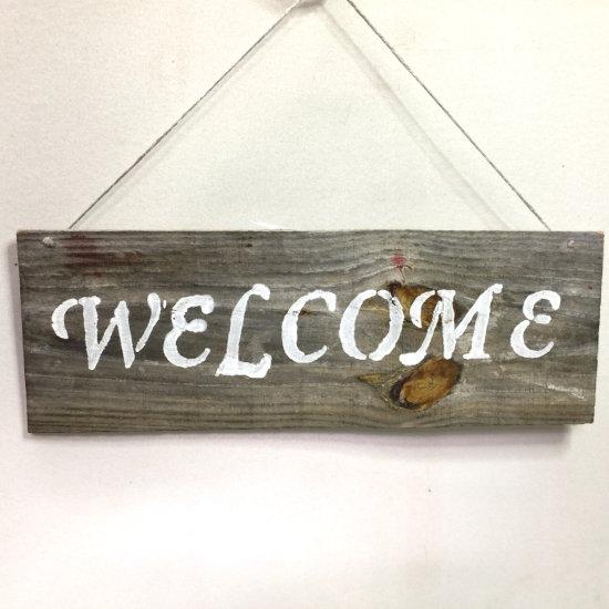 Weathered Barnwood Welcome Sign