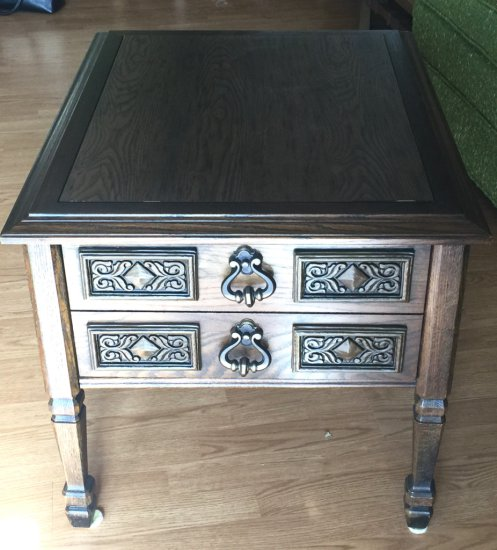 Mid-Century Modern Side Table with Dove-Tailed Drawer