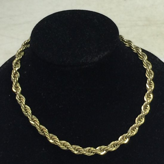 Vintage Gold Plate Over 925 Rope Chain Bracelet