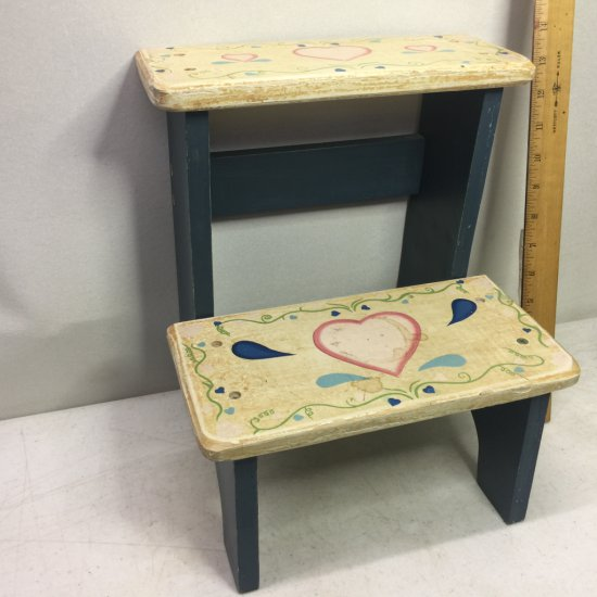Small Wooden Decorative Step Stool