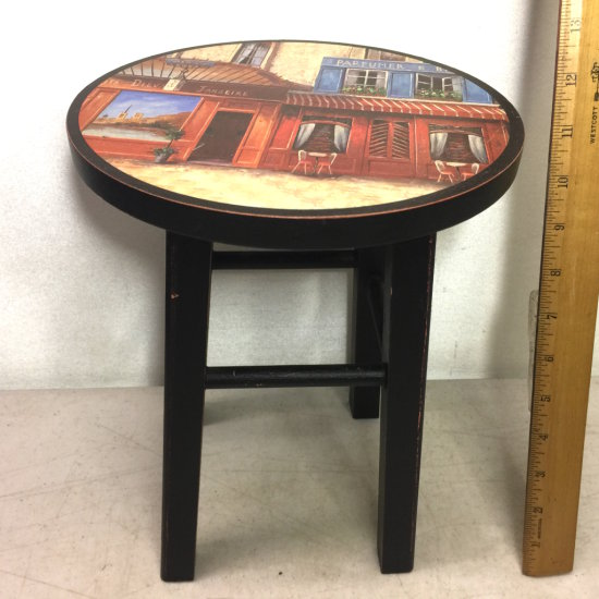 Small Decorative Wooden Stool