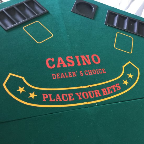 Portable Poker Table Top with Carrying Case