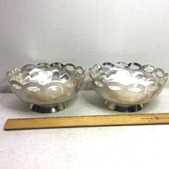 Pair of WMF IKORA Silver Plated Bowls