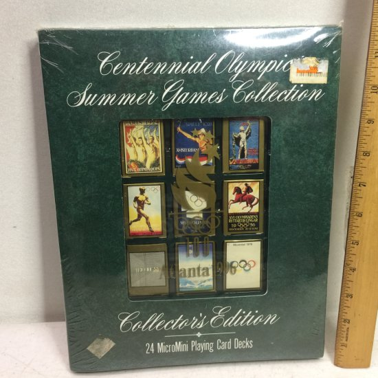 Centennial Olympic Summer Games Collection - 24 MicroMini Playing Card Decks - Sealed
