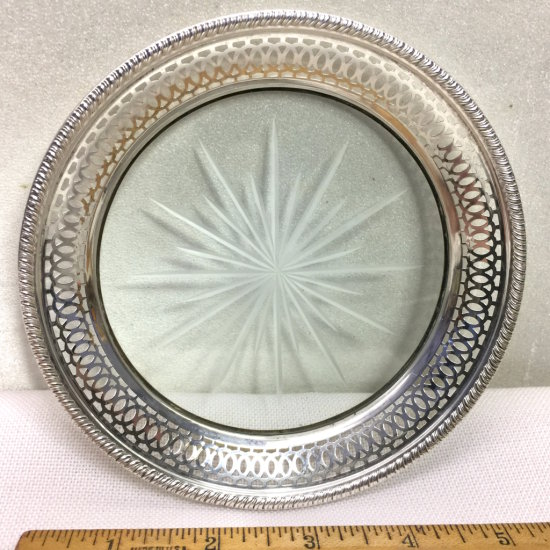 Sterling Silver & Glass Dish