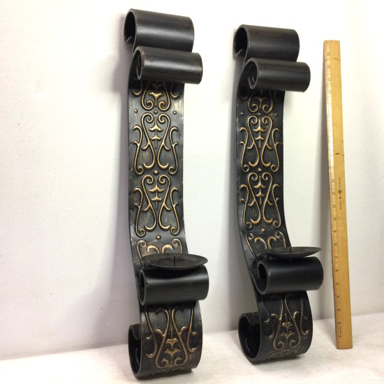 Metal Scroll Candle Holder Wall Hangings