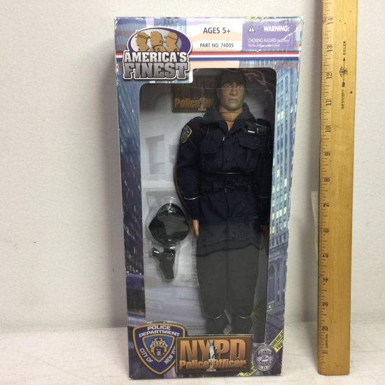2002 America's Finest NYPD Police Officer Action Figure Doll - New in Box