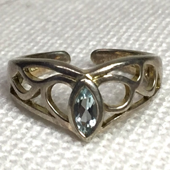 Sterling Silver Ring with Clear Stone