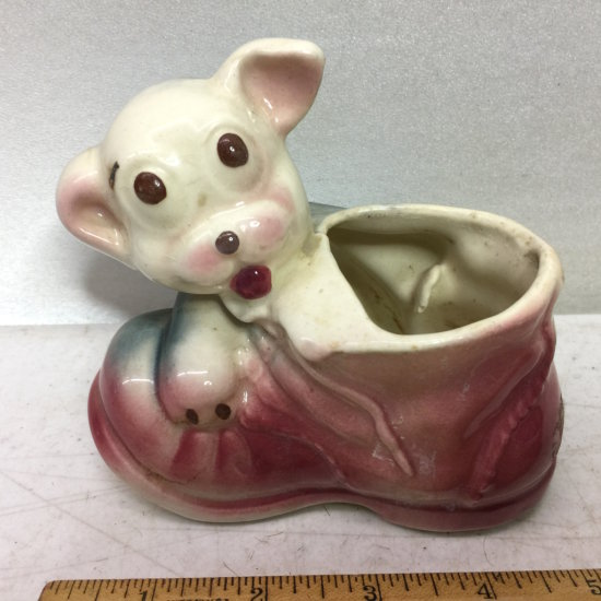 Vintage Bonzo Art Pottery Dog Planter