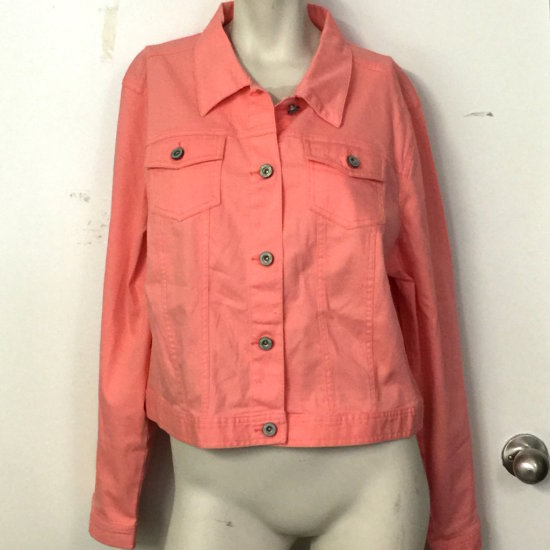 Salmon Ladies Jacket by Cato Size 18/20