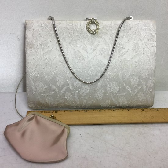 Vintage HL Harry Levine Purse with Tulip Floral Print & Matching Attached Coin Purse