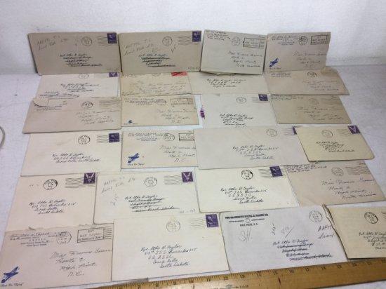 Lot of World War II Sweetheart Letters