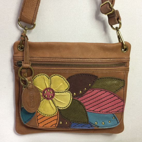 NICE Fossil Floral Leather Purse