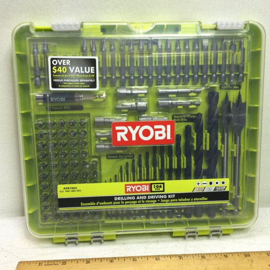 Ryobi 106 pc Drilling & Driving Kit