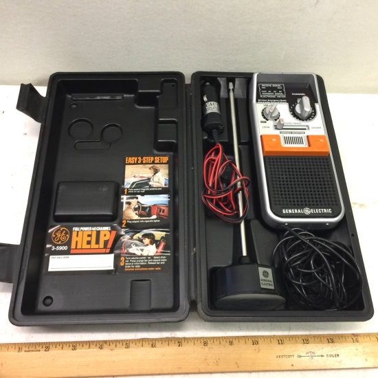 GE Full Power 40 Channel Help! Emergency Information 2-Way Citizens Band Radio