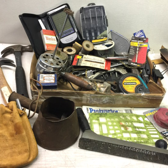 Large Lot of Tools & Misc Hardware