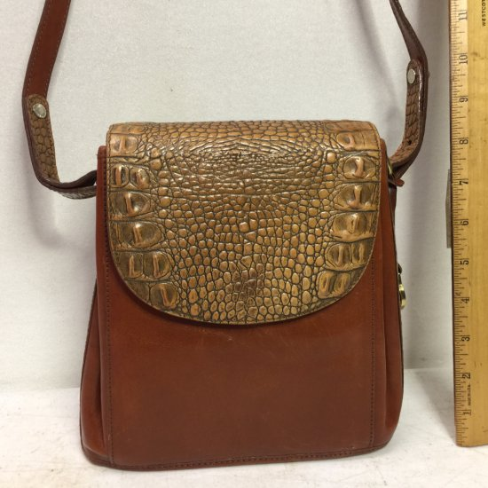 """Brahmin"" Signed Alligator Leather Purse"