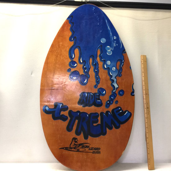 "Wooden ""Skim Lizard"" Skim Board"