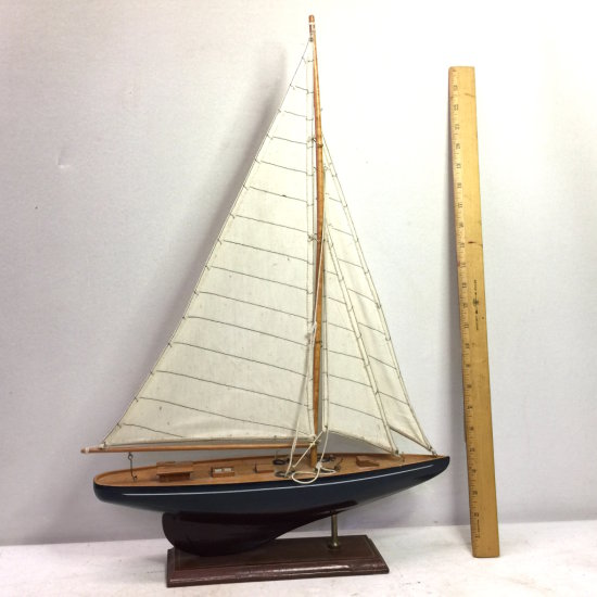 Wooden Decorative Tall Sailboat