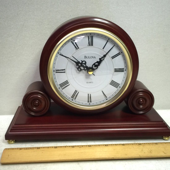 NEW Bulova Mantel Battery Operated Clock with Box