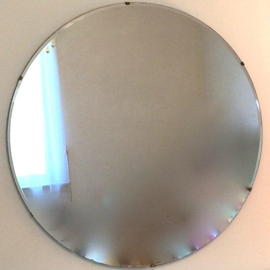 """Vintage Round 36"""" Wall Mirror"""