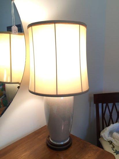 "Vintage 24"" Iridescent Lamp"