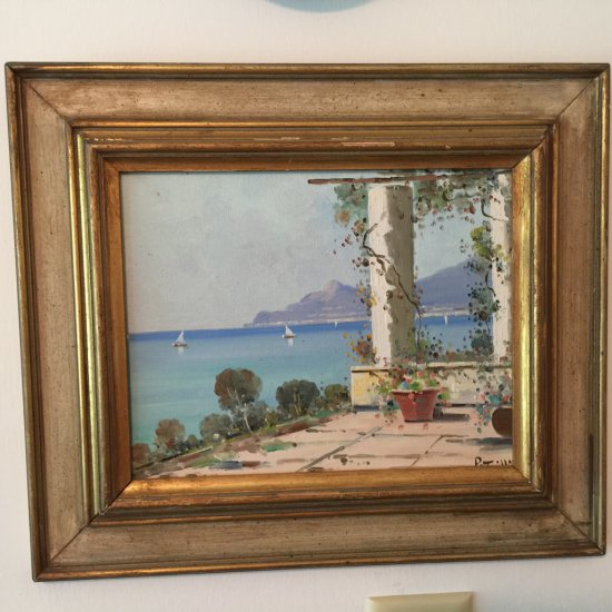 Original Oil Painting Signed by Italian Artist