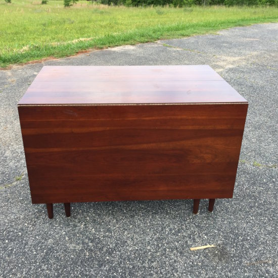 """Vintage Consider H. Willett Cherry Drop Leaf Table with 14"""" Leaf (Drop to Floor)"""