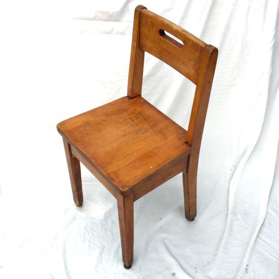 Early Wooden Children's School Chair